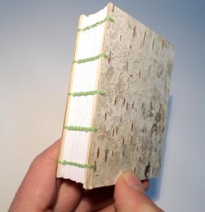 Birch bark cover journal